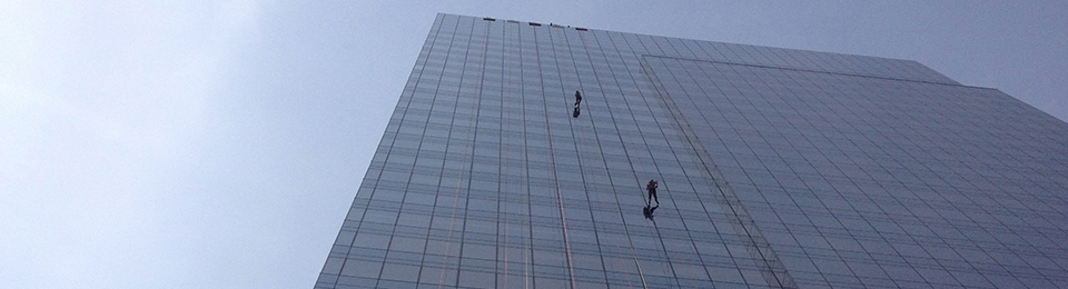 Rappelling in Jersey City